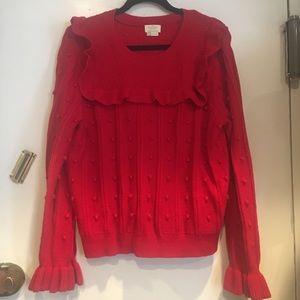 Kate spade ruffle yolk sweater
